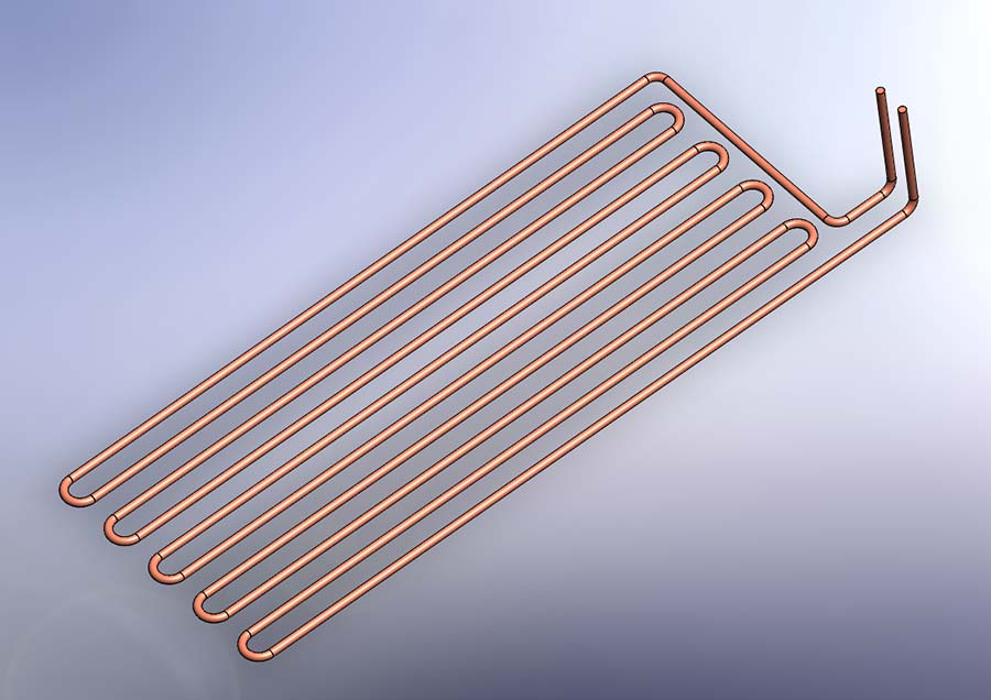 Design to manufacture cooling coil