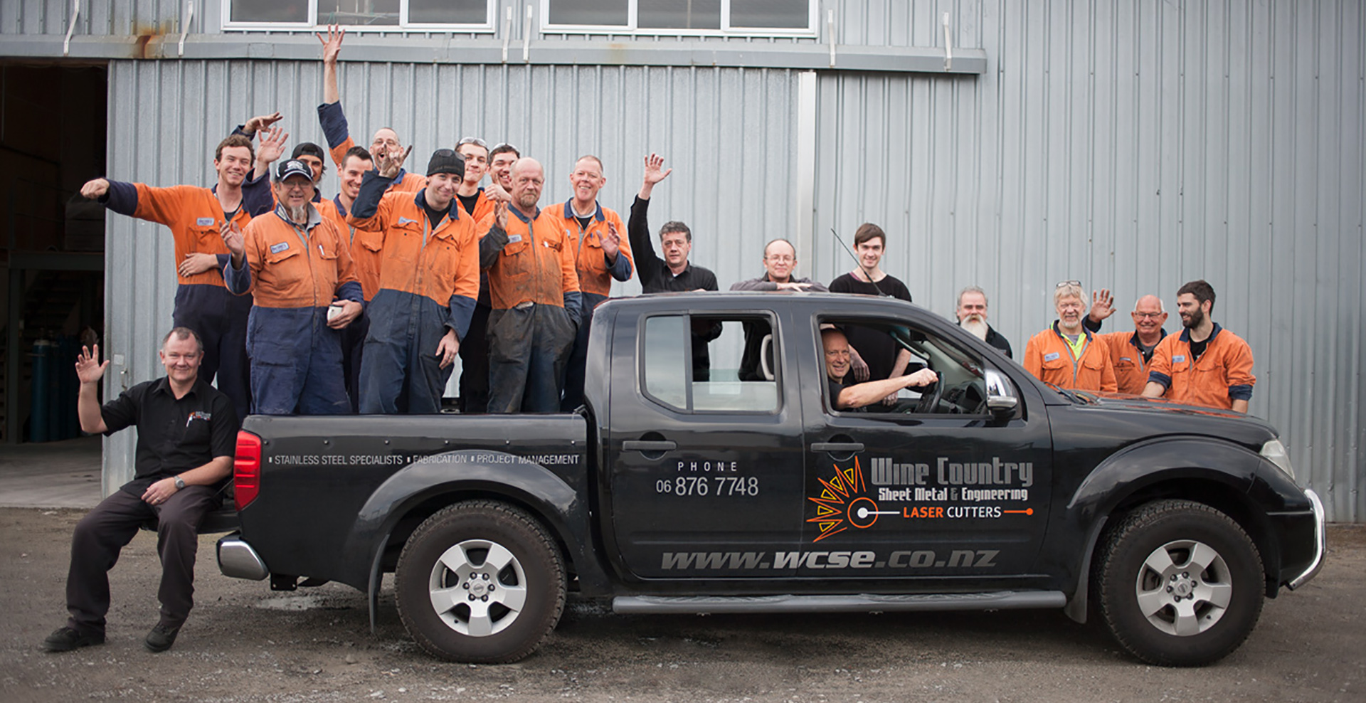Wine Country Sheet Metal Management team